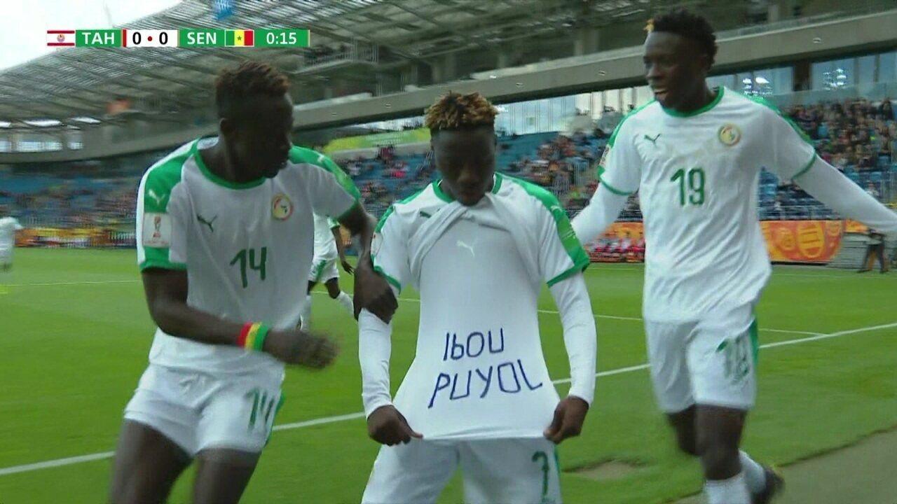 Contra o Taiti, Senegal faz o gol mais rápido da Copa do Mundo Sub-20