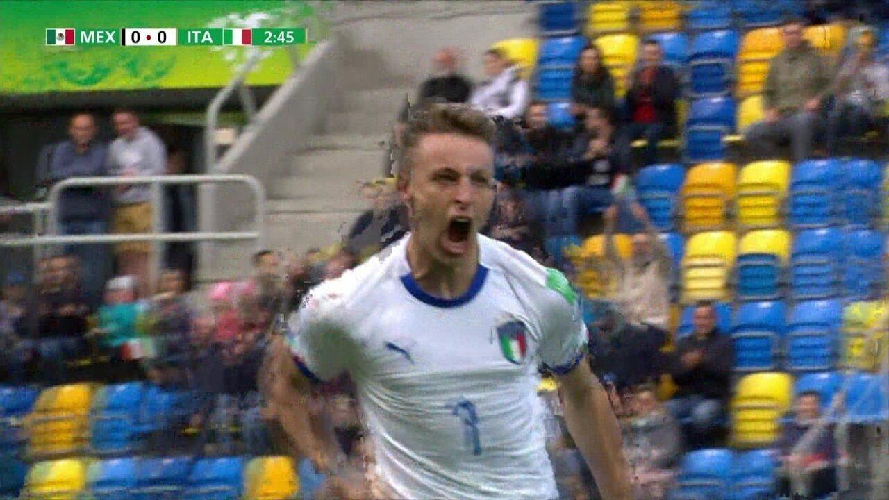 Os gols de Itália 2 x 1 México pelo Mundial Sub-20 2019