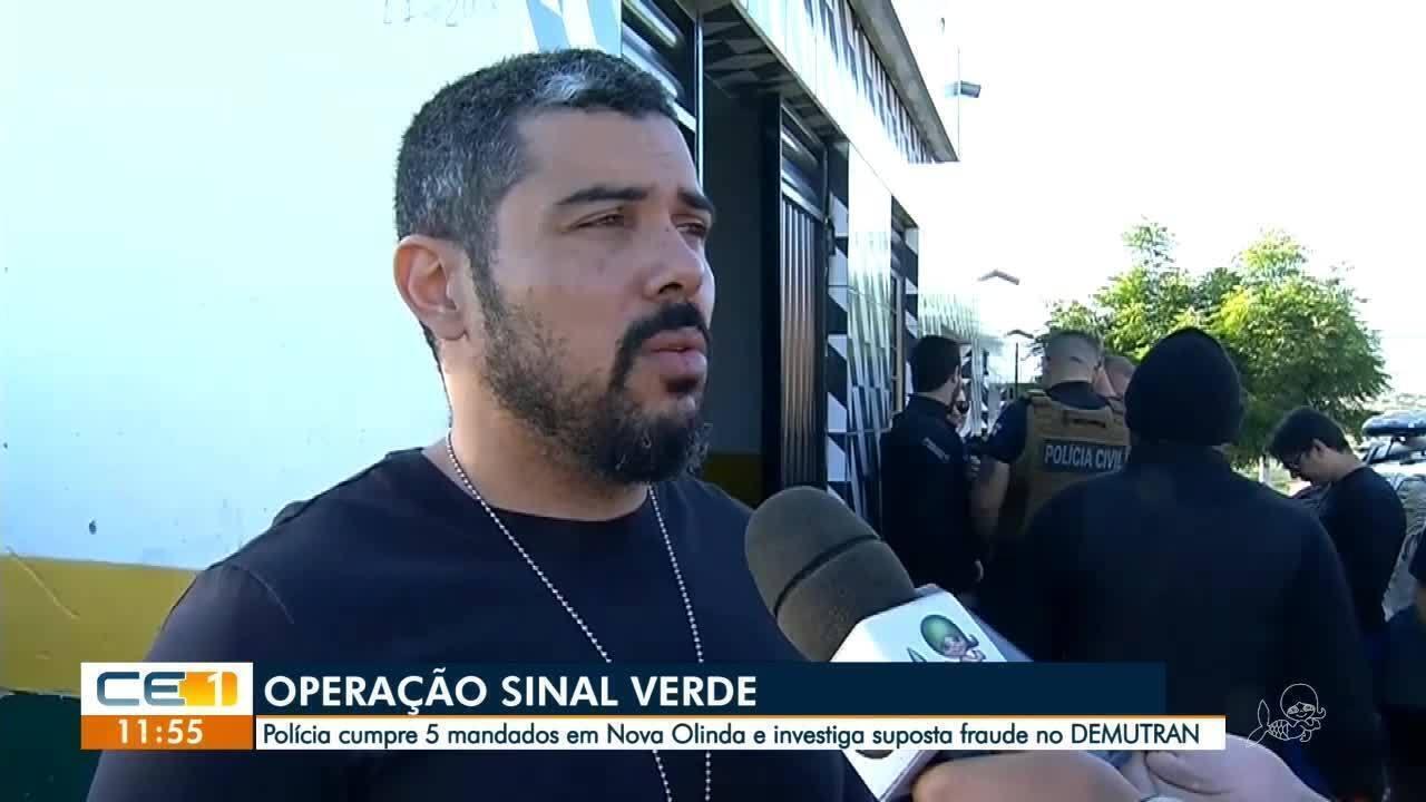 Secretário e diretor de órgão de trânsito de Nova Olinda são presos