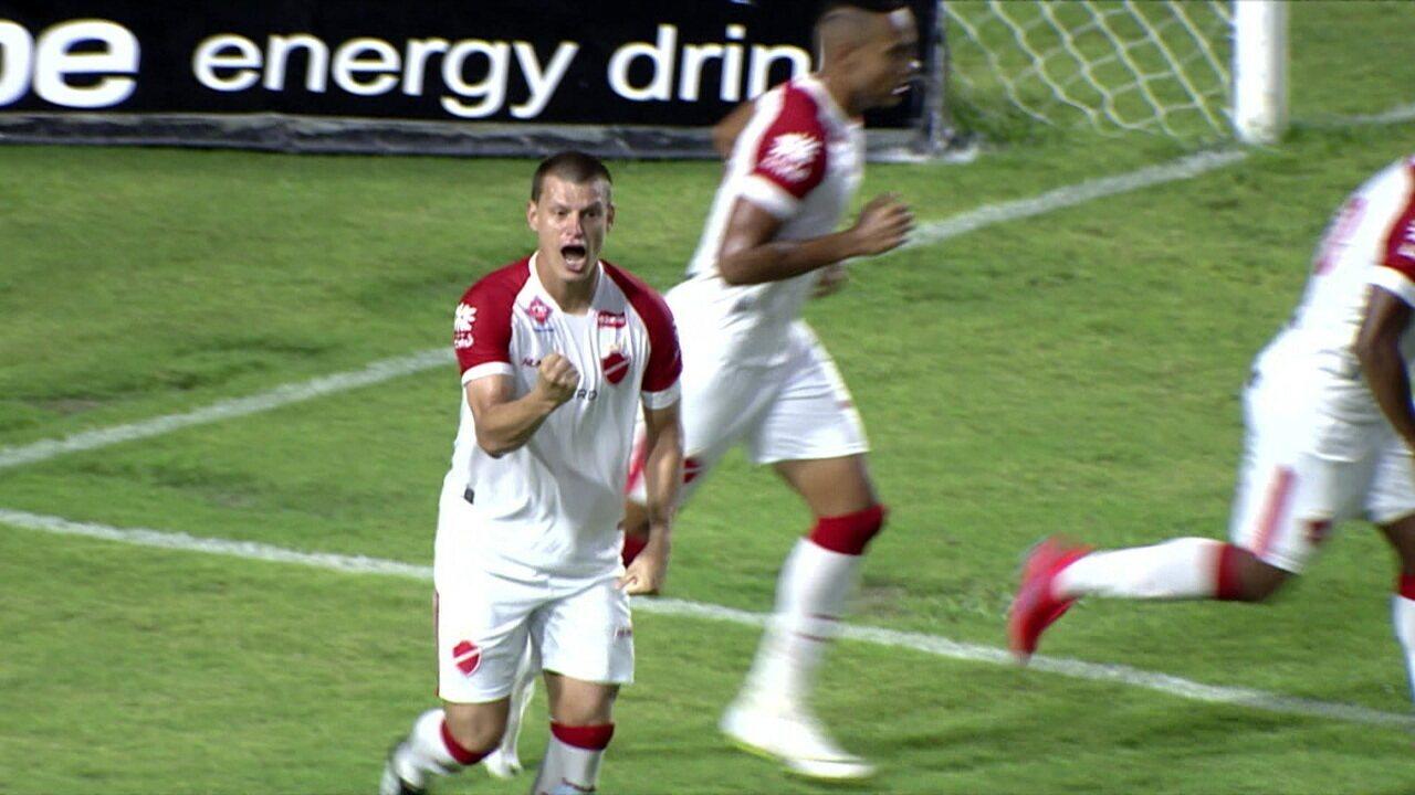 Gol do Vila! Diego Jussani empata o jogo, aos 08' do 2º tempo