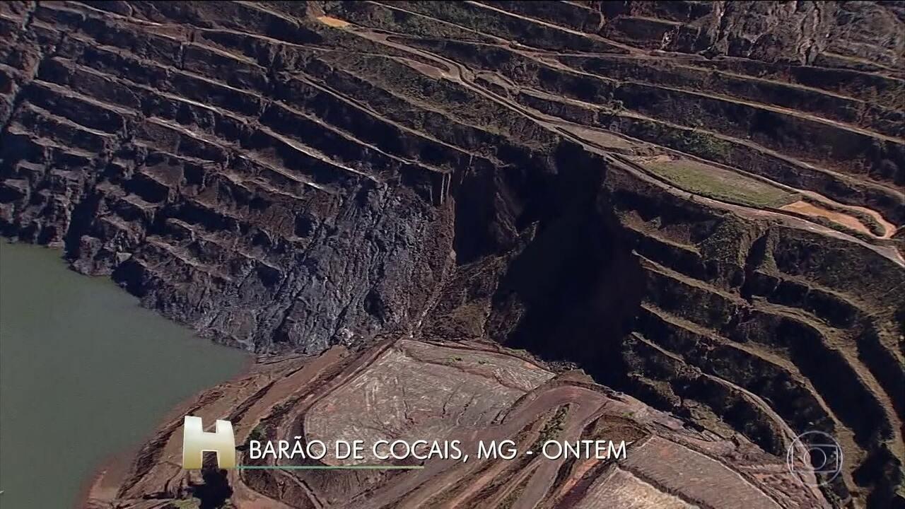 Moradores de Barão de Cocais seguem em alerta com risco de rompimento de barragem da Vale