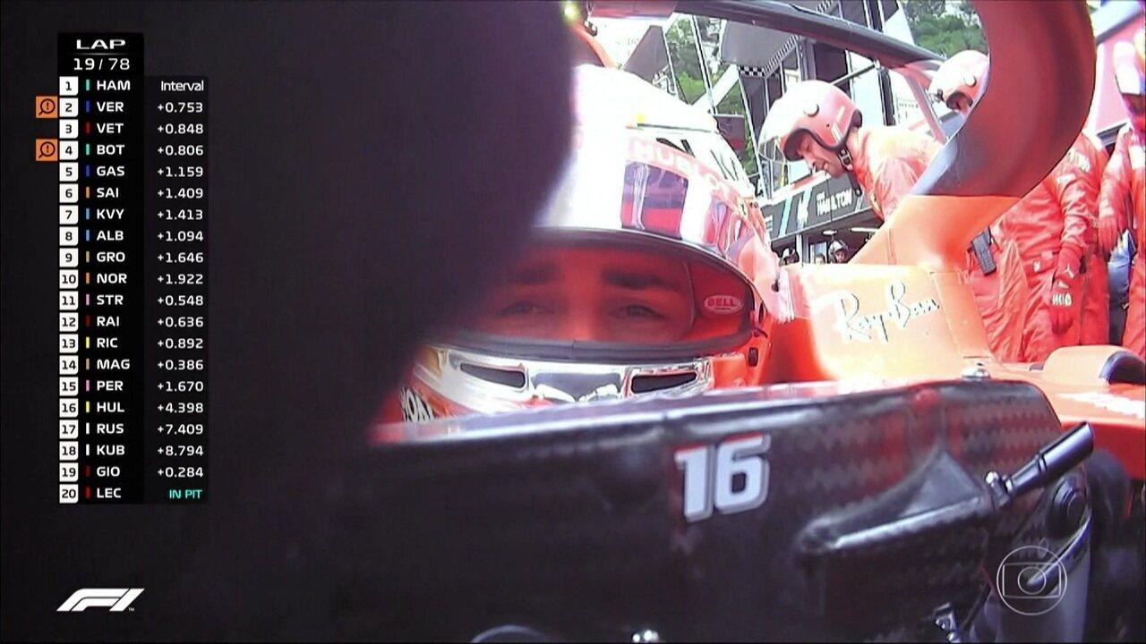 Charles Leclerc abandona o GP de Mônaco