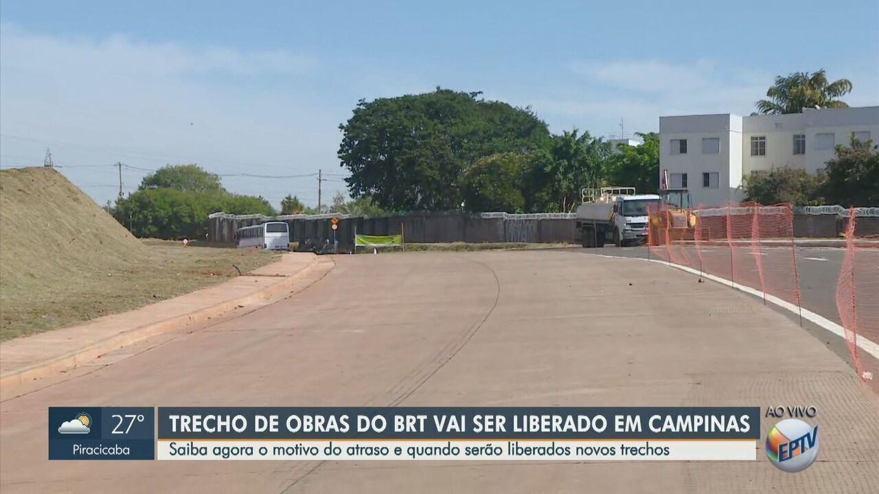 Primeiro trecho das obras do BRT deve ser liberado nesta quarta-feira (29), em Campinas