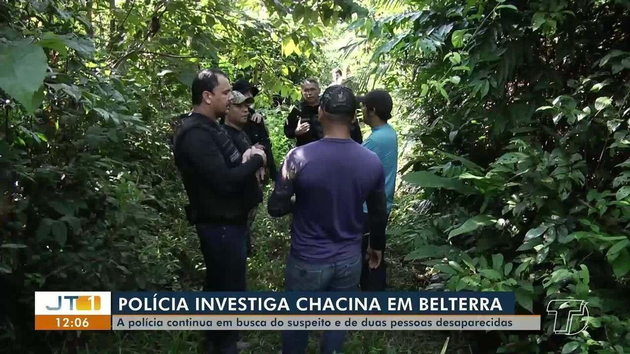 Polícia continua as buscas pelo assassino de quatro pessoas em comunidades de Belterra