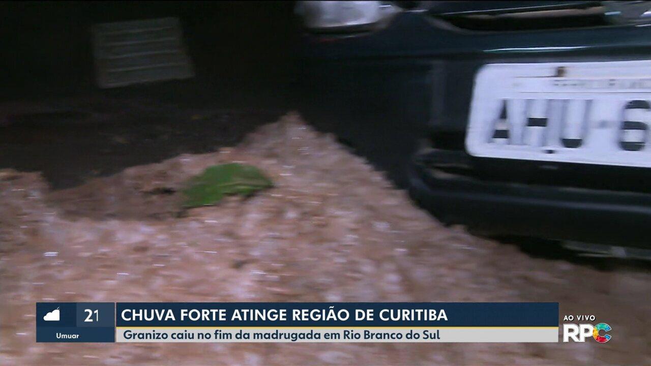Chuva de granizo cai em Rio Branco do Sul