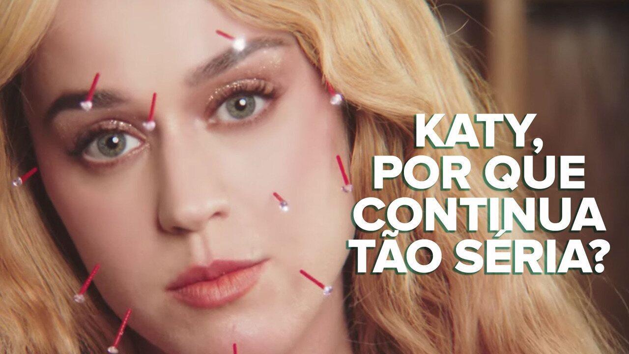 Katy Perry continua séria e fazendo pop consciente em 'Never really over'