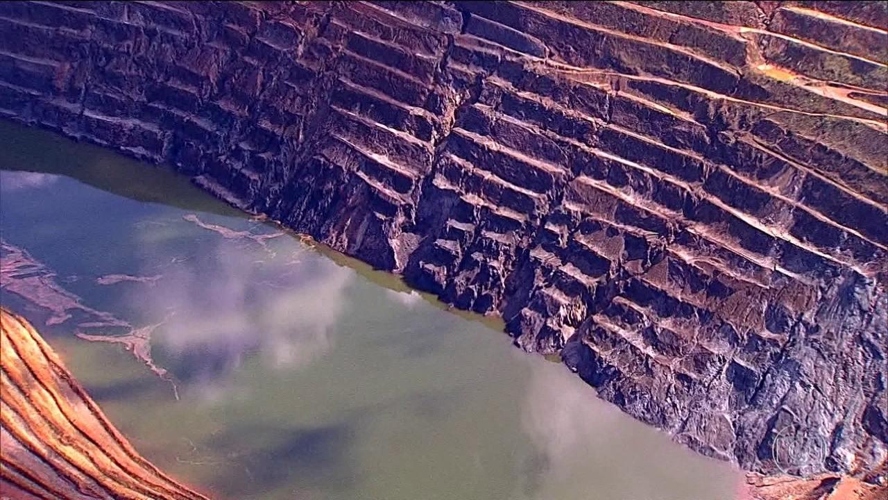 Parte de paredão de uma mina desabou em Barão de Cocais