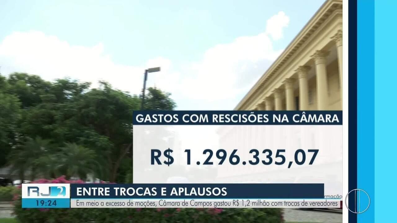 Câmara de Campos, RJ, gasta R$ 1,2 milhão com troca de vereadores