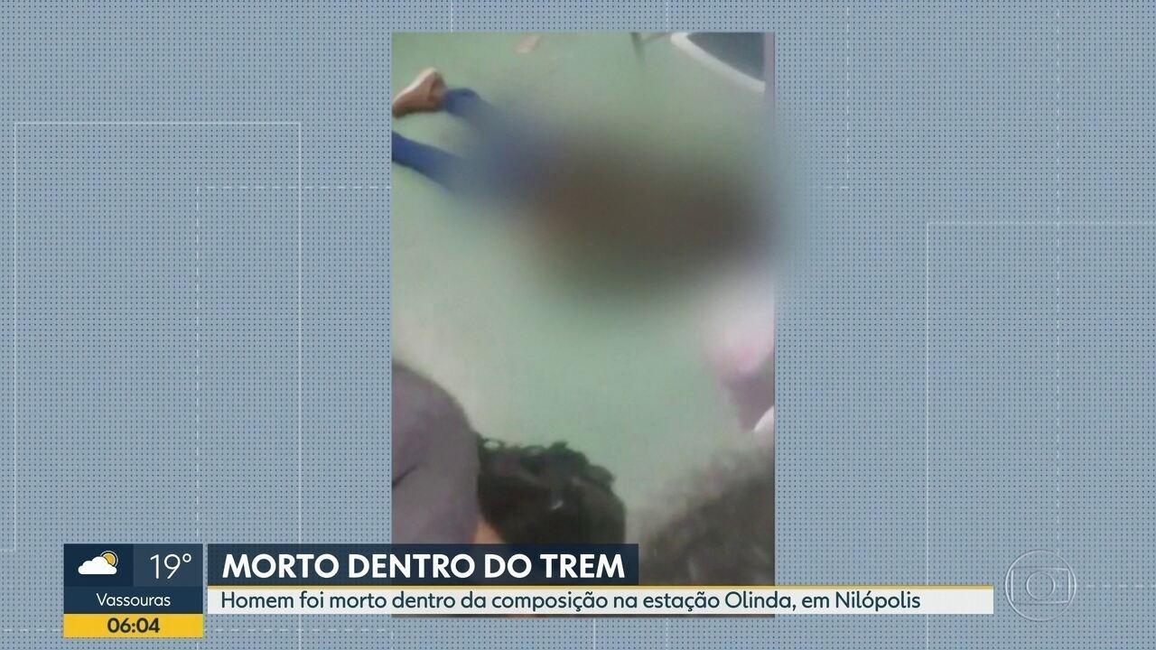 Homem é morto dentro de trem na estação Olinda, em Nilópolis