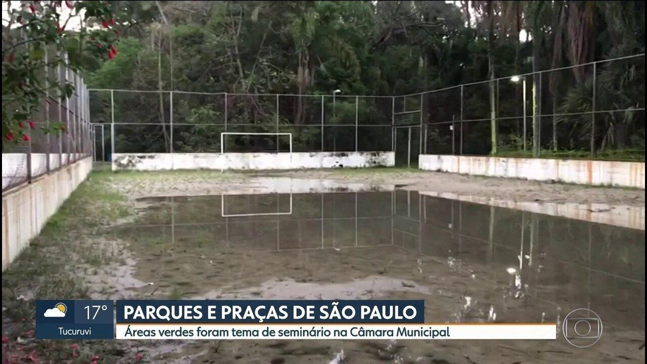 Parques e praças de São Paulo precisam de manutenção