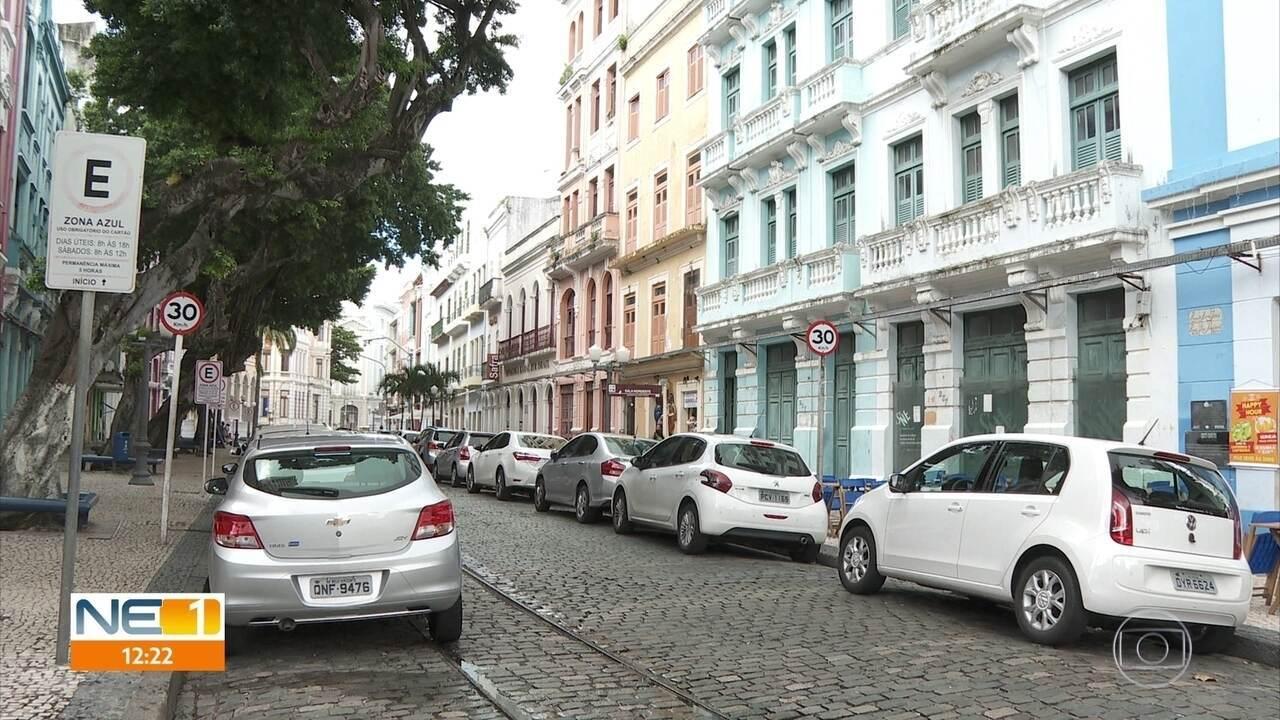 Sistema digital substitui talões de estacionamento Zona Azul no Recife