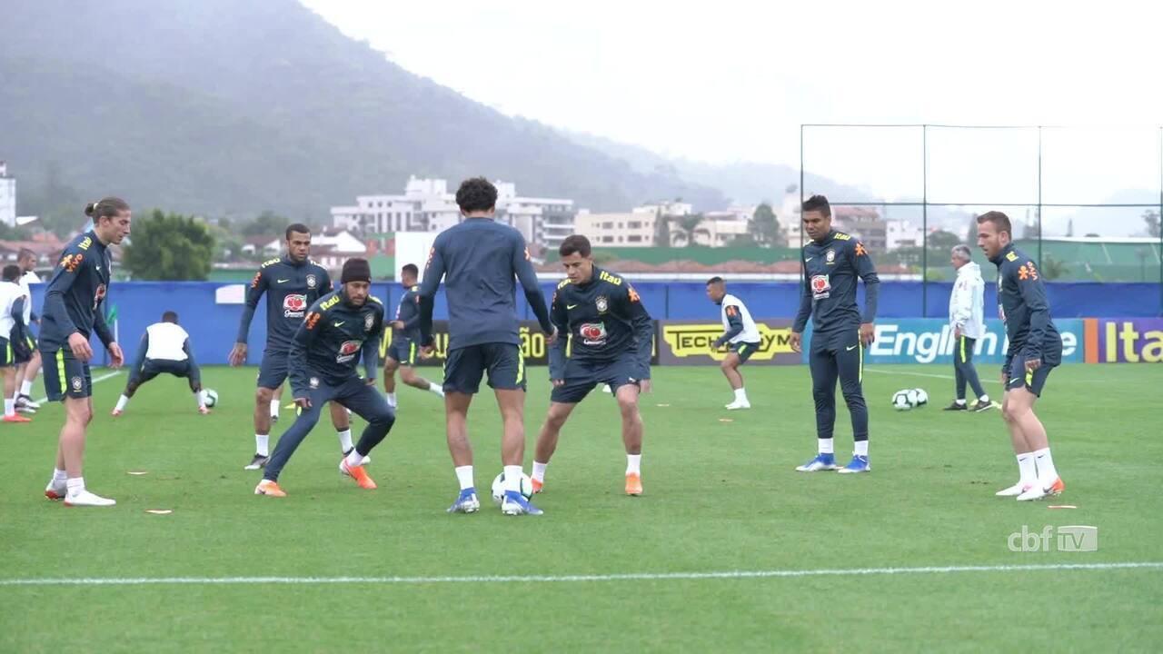 Tite comanda último treino do Brasil antes de amistoso com Catar