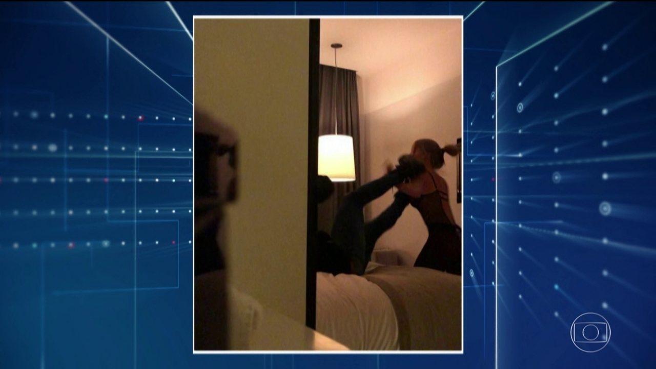 Polícia tem vídeo gravado pela mulher que acusa o jogador Neymar de estupro