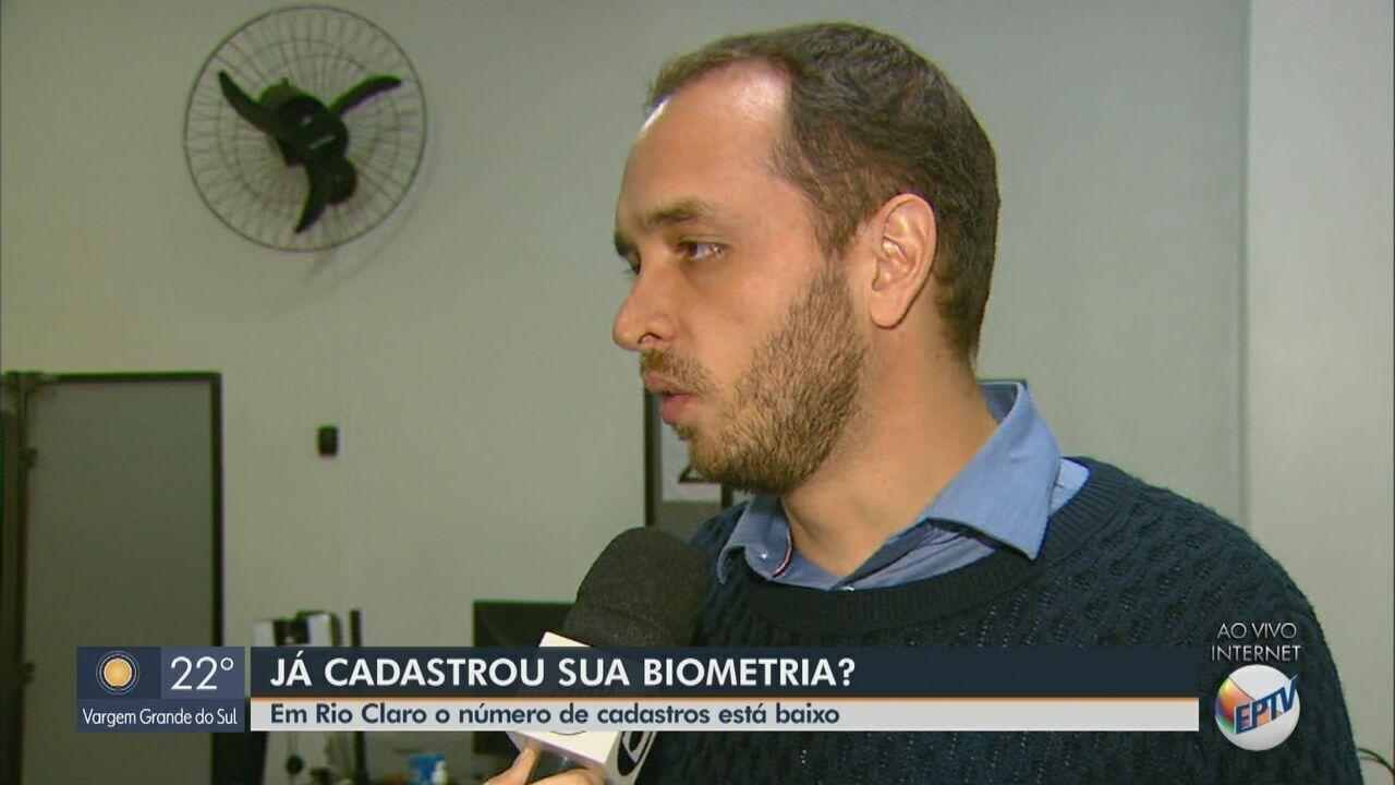 Metade dos eleitores de Rio Claro ainda não realizaram o cadastramento biométrico