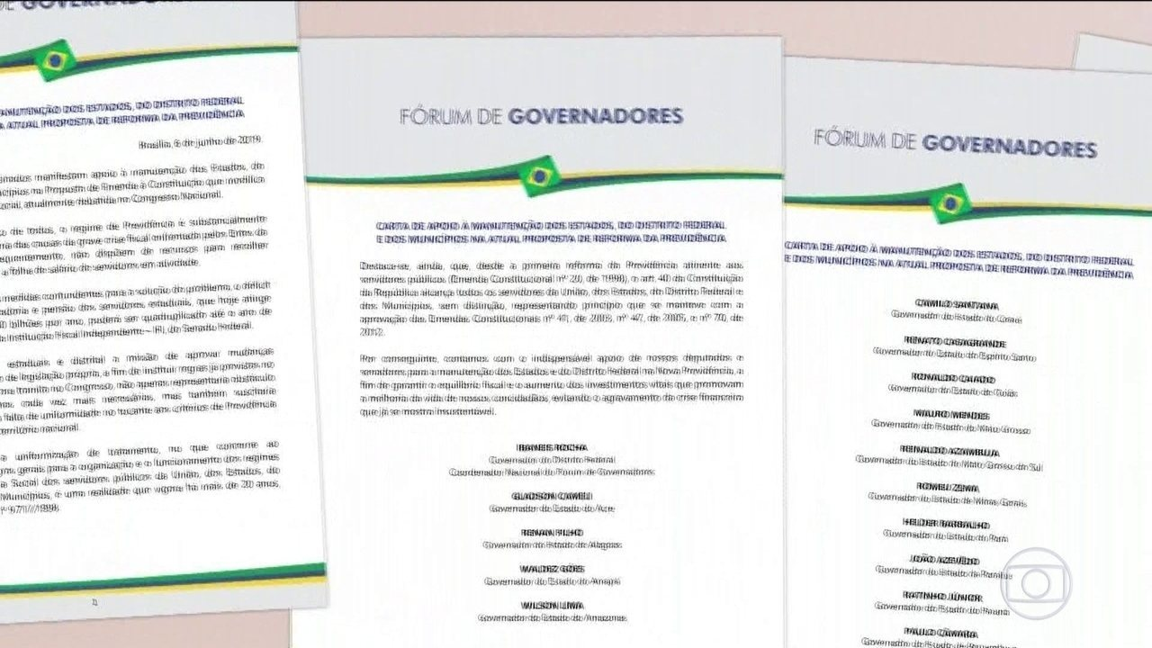 Governadores defendem permanência de estados na reforma da Previdência
