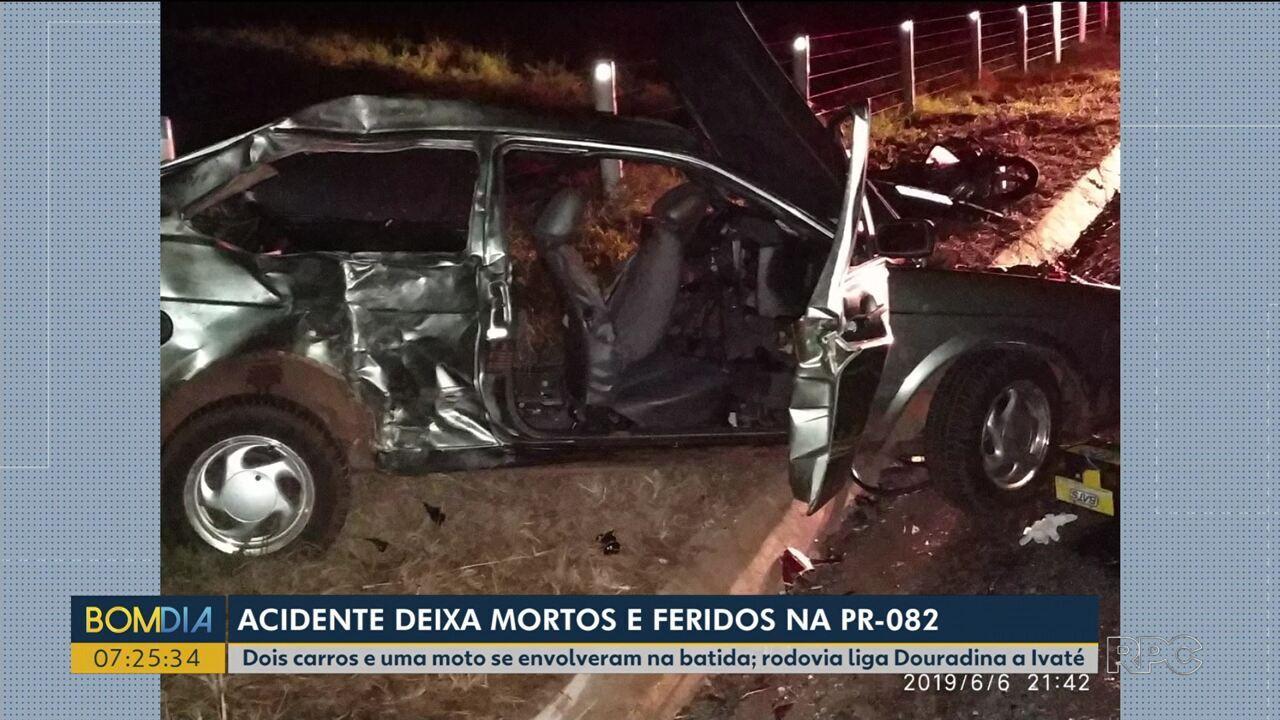 Três pessoas morrem em grave acidente na PR-082