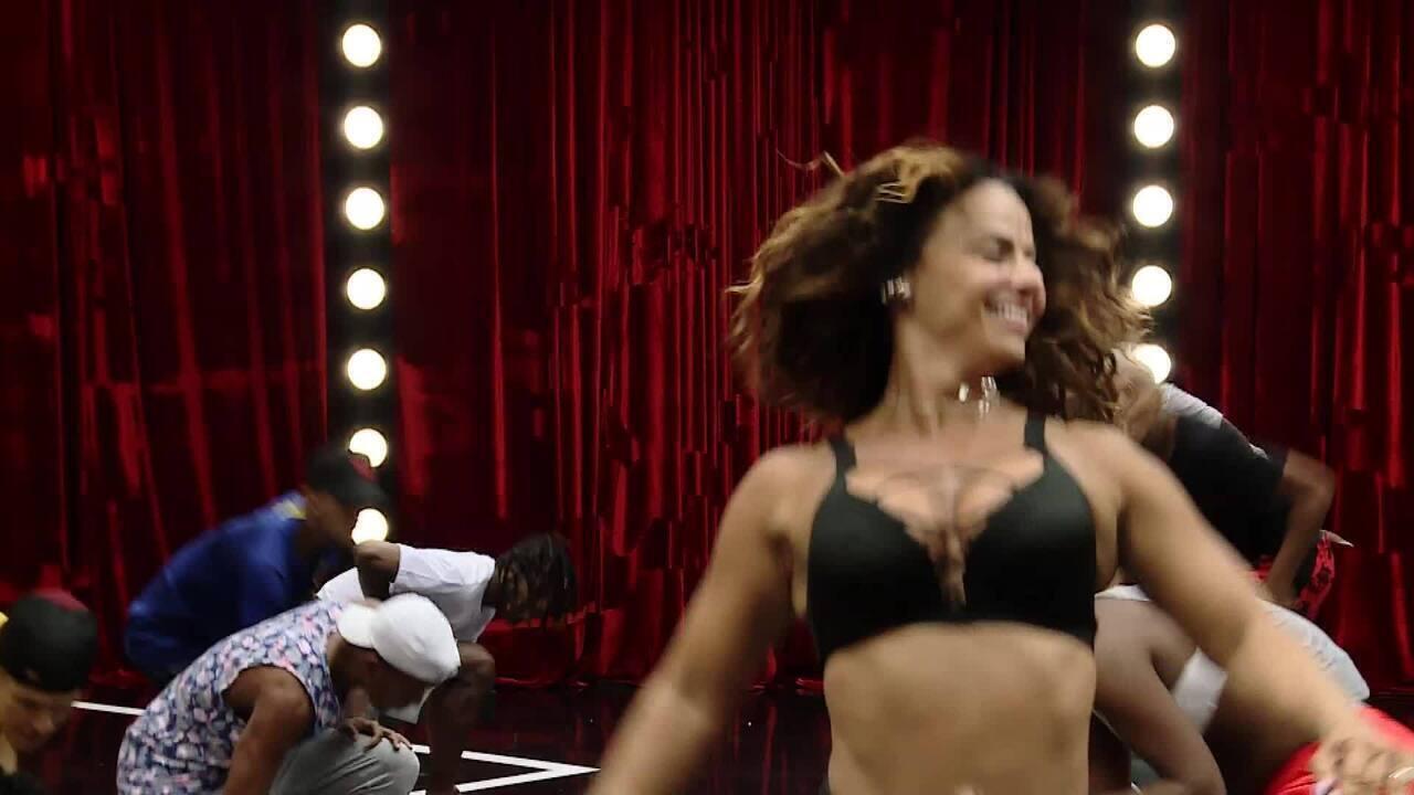 Viviane Araújo chama para a final do 'Dança de Grupo no Faustão'