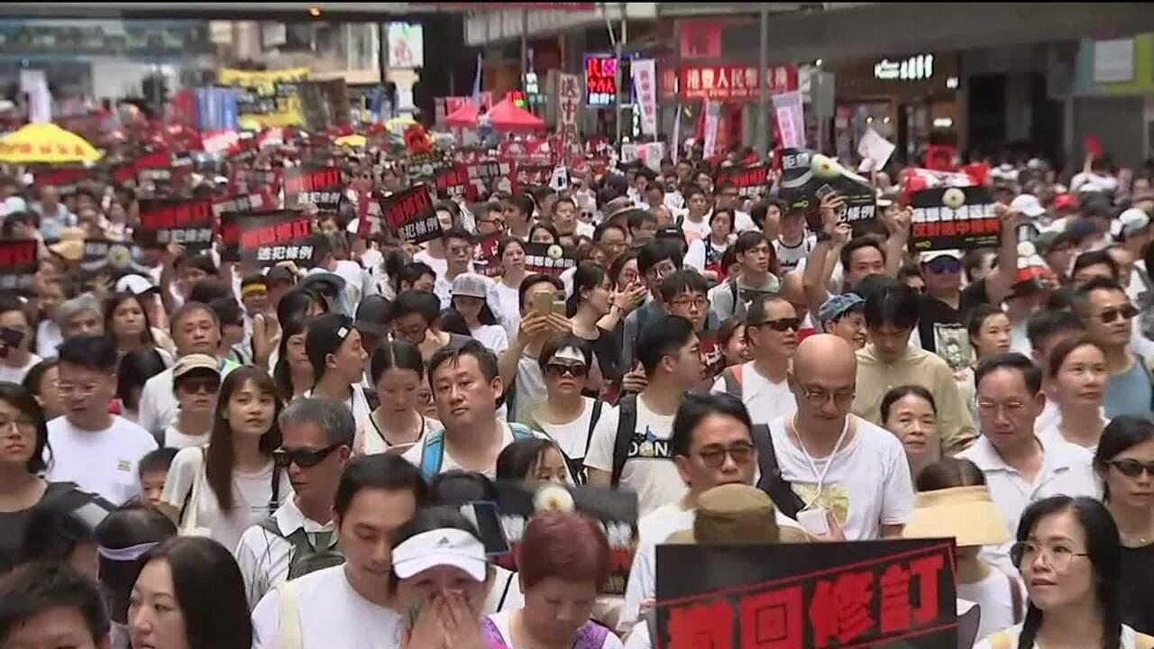 Hong Kong tem manifestação contra proposta de extradições para a China