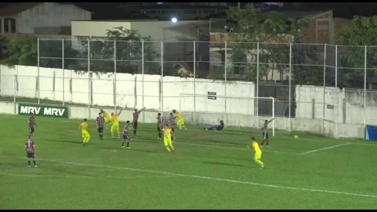 O gol de Serra 0 x 1 Brasiliense, pela Série D do Campeonato Brasileiro 2019