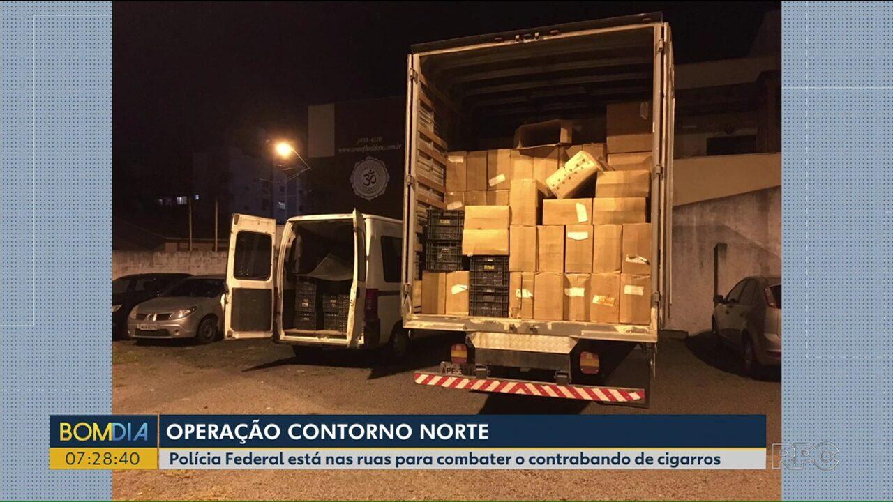 Polícia Federal nas ruas para combater o contrabando de cigarros