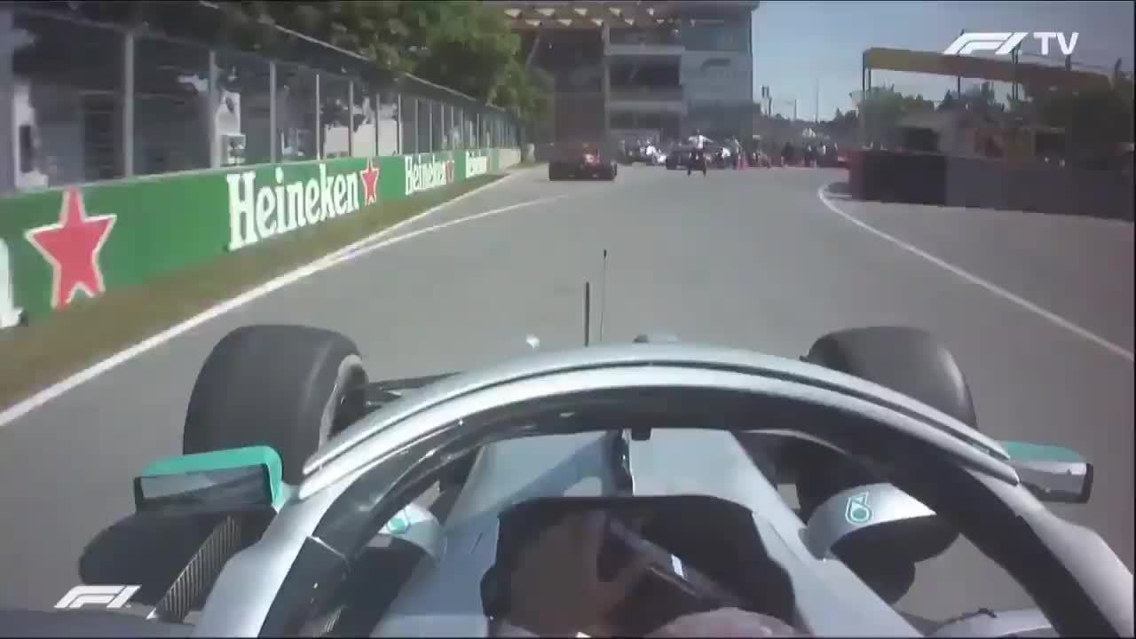 Lewis Hamilton tentou dar carona a Sebastian Vettel no GP do Canadá