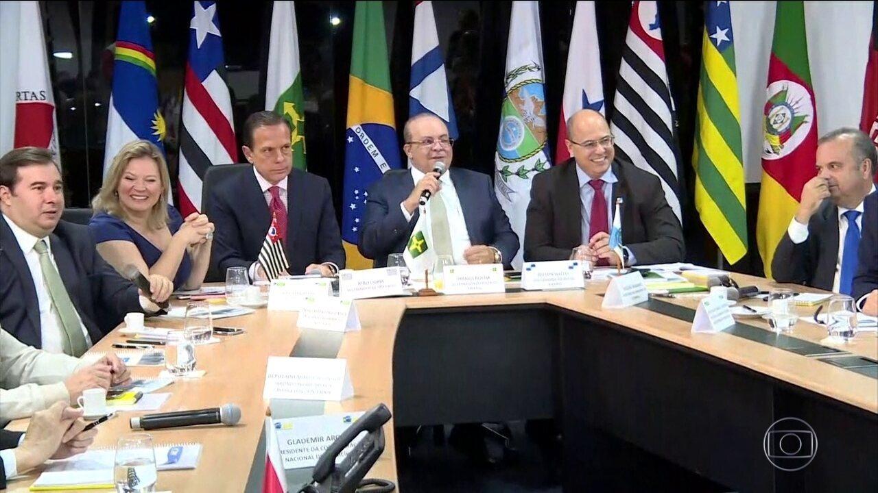Governadores de 24 estados e do DF se reúnem para discutir a reforma da Previdência