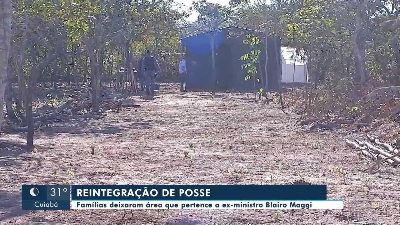 Polícia cumpre mandado de reintegração de posse em fazenda de Blairo Maggi