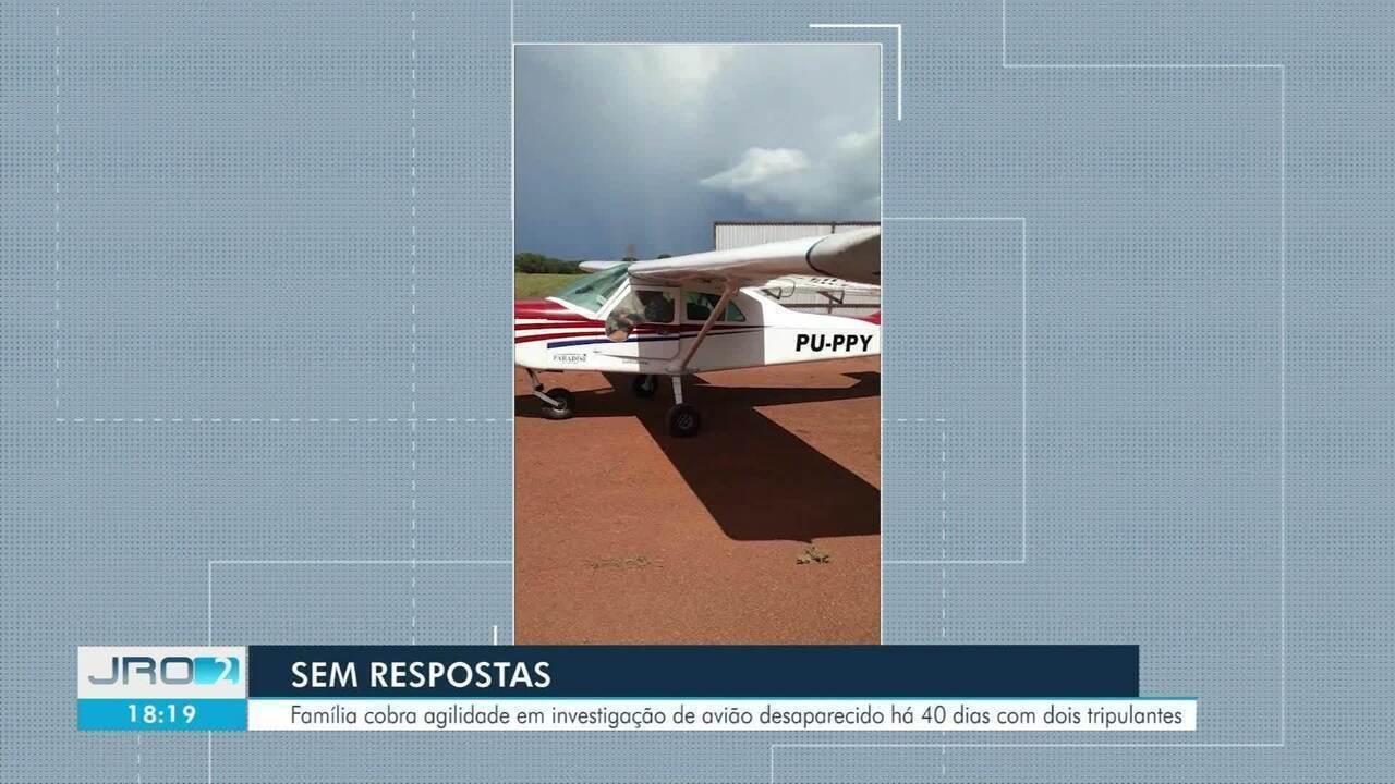 Família cobra agilidade em investigação de avião desaparecido há 40 dias