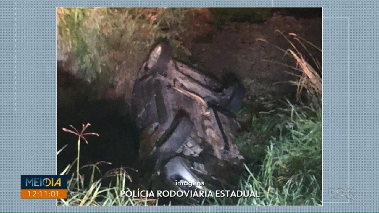 Acidente na PR-340, em Castro, deixa duas pessoas feridas