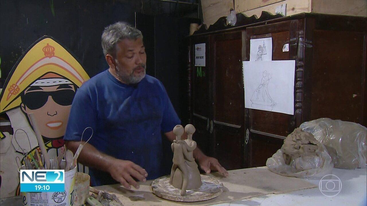Artesão de Goiana produz principal prêmio do Festival de Quadrilhas Juninas da Globo