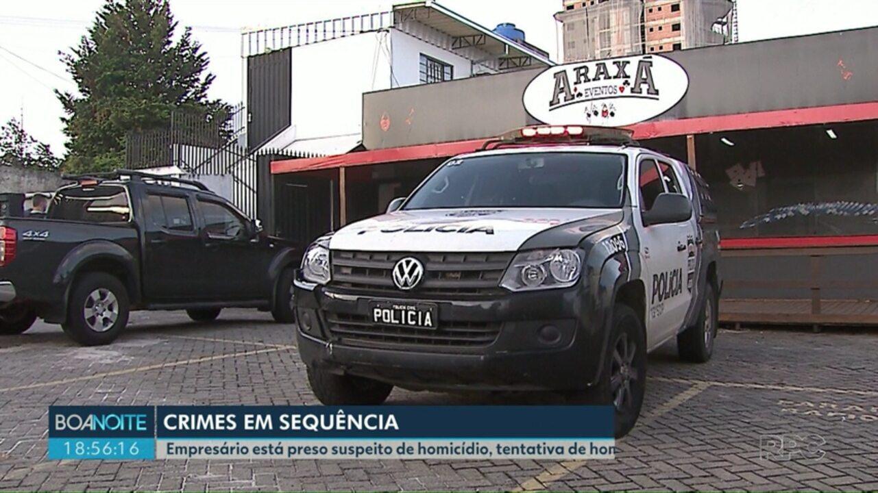 Polícia prende quarto suspeito de participar de série de crimes em Ponta Grossa