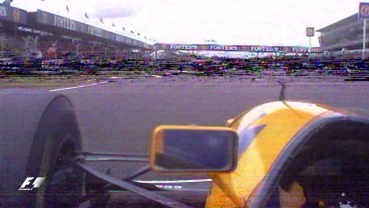 Duelo entre Prost e Senna no GP da Inglaterra de 1993