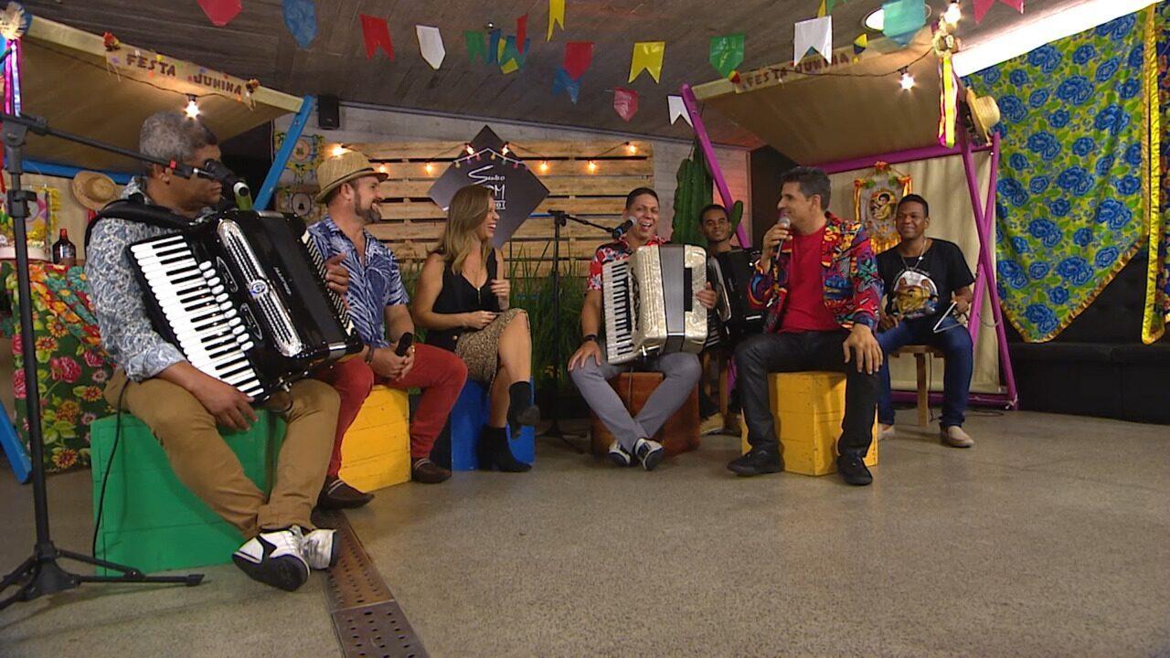 Cicinho de Assis, Léo Macedo, Del Feliz e Targino Gondim participam do Sente o Som Junino