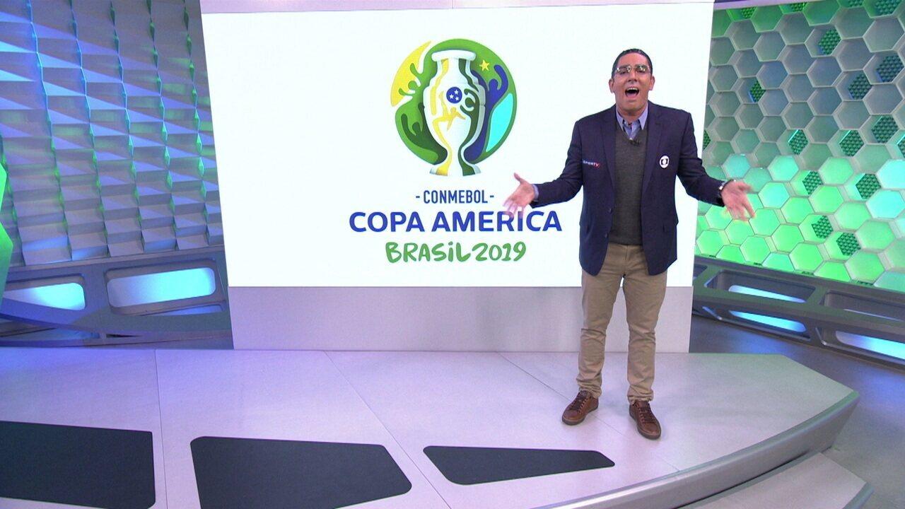 Soy loco por Copa América: Adnet brinca com Galvão na estreia da competição