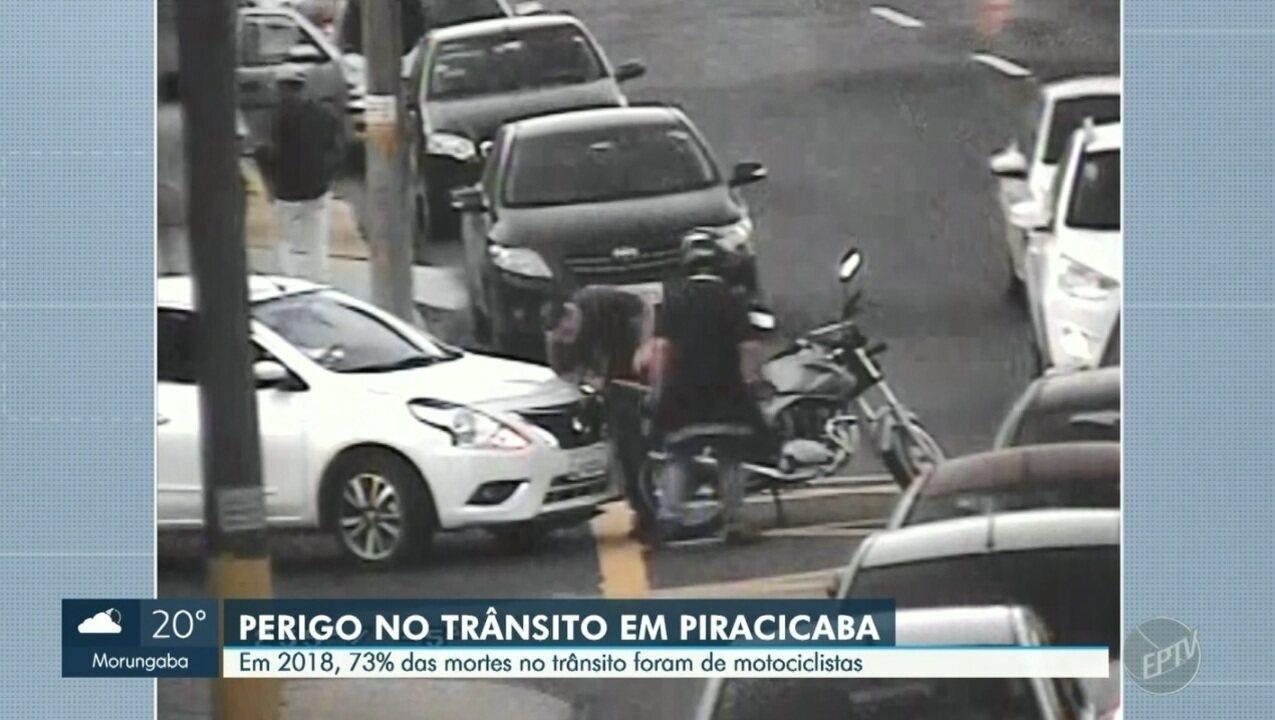 Em 2018, 73% das mortes no trânsito foram de motociclistas em Piracicaba