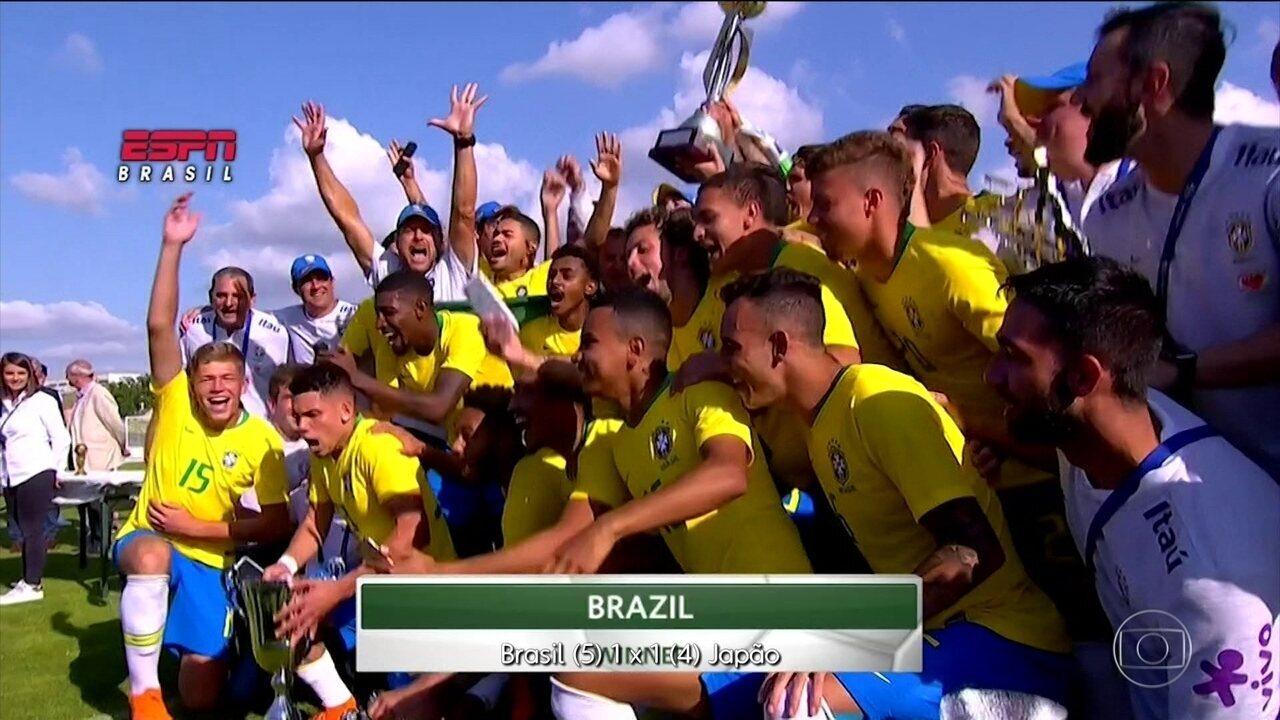 Seleção brasileira sub-23 conquista o torneio de Toulon, na França