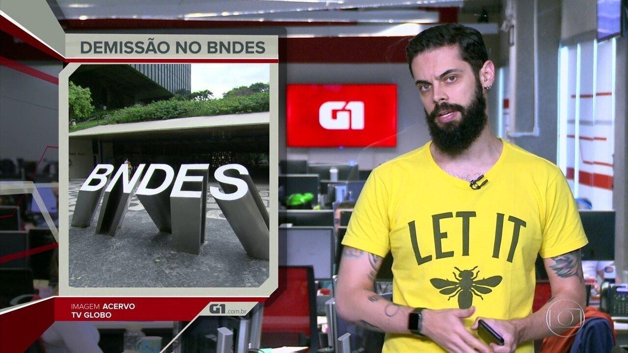 G1 em 1 Minuto: Maia diz que ficou 'perplexo' com tratamento dado por Guedes a Levy