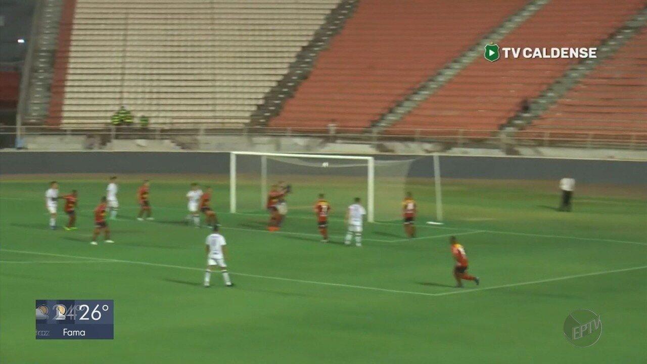 Caldense perde de 2 a 1 para o Ituano no jogo de ida da segunda fase da Série D