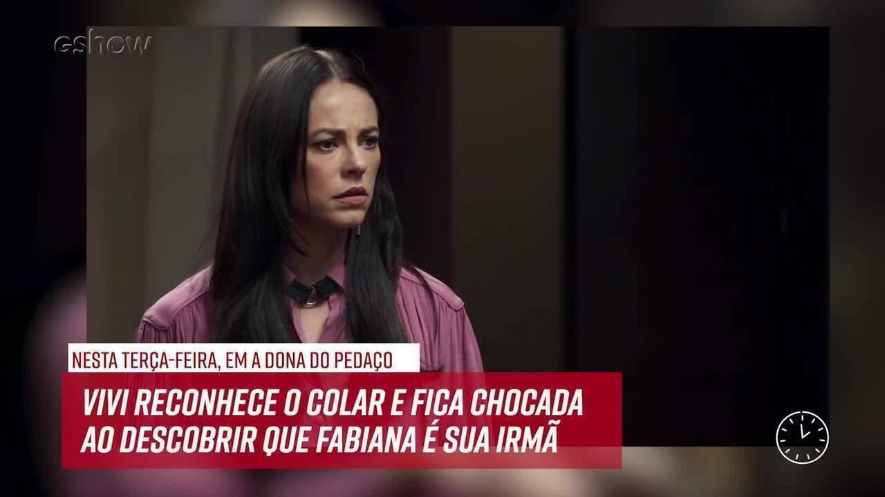 Resumo do dia - 18/06 – Vivi reconhece colar de Fabiana e descobre que elas são irmãs