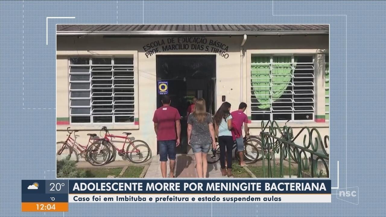 Menina de 12 anos morre por meningite em Imbituba; aulas são suspensas após nova suspeita