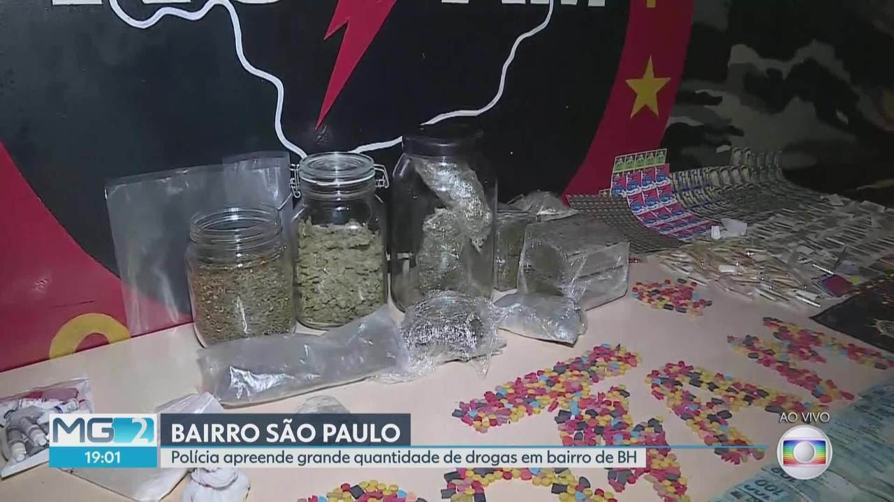 Polícia apreende grande quantidade de drogas na Região Nordeste de BH