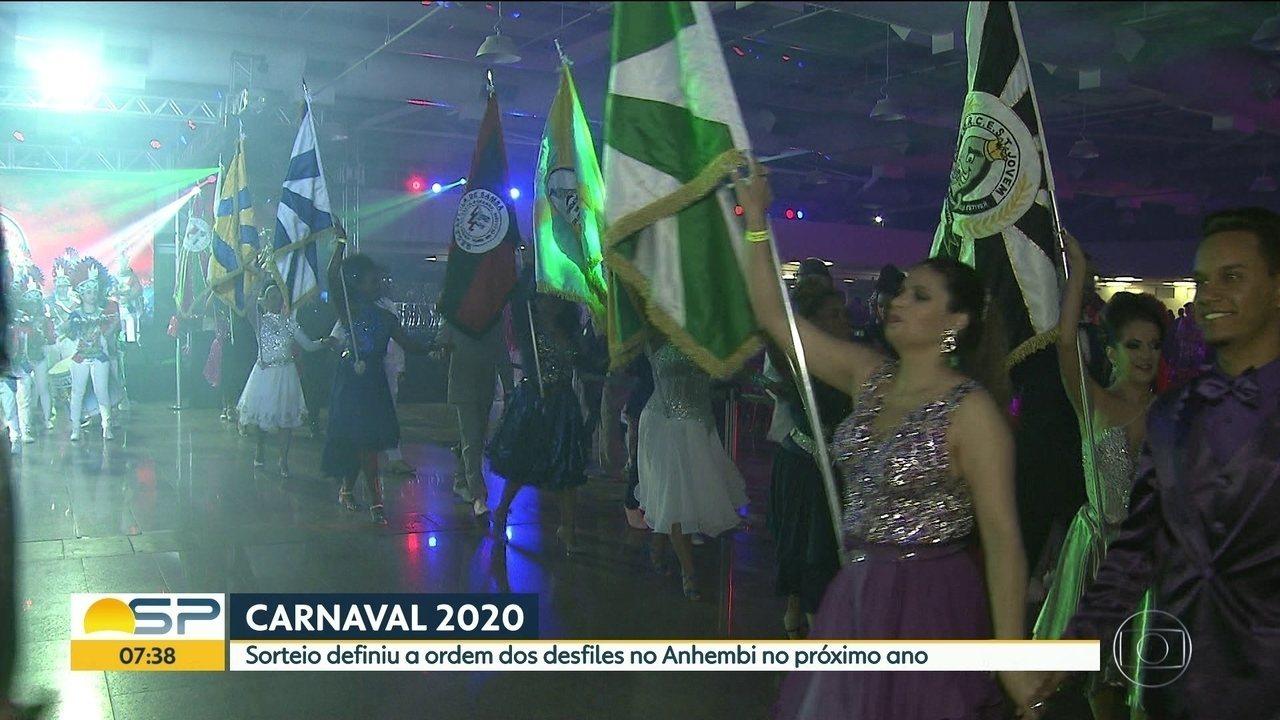 Carnaval de São Paulo em 2020 tem ordem de desfiles definida