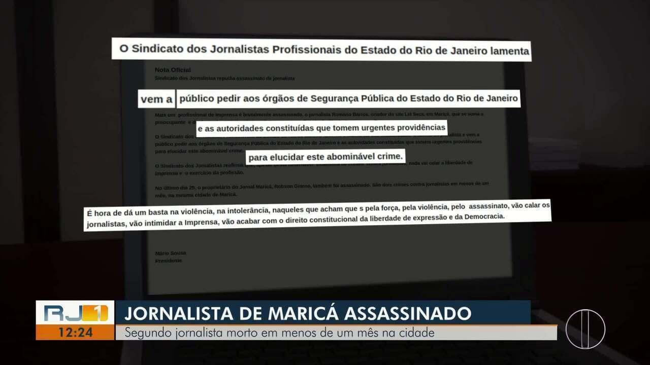 Mais um jornalista é mortos a tiros em Maricá, no RJ