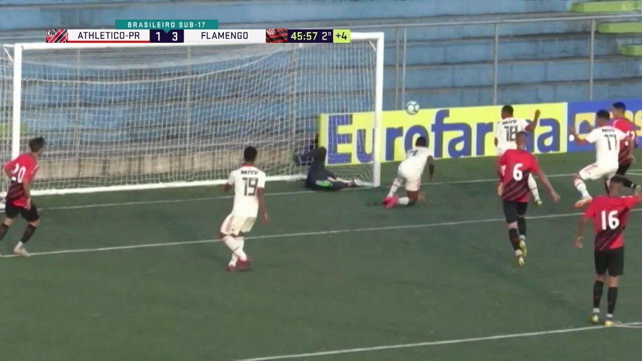 Melhores momentos: Athlético-PR 1 x 3 Flamengo pelas Quartas de final do Brasileiro sub 17