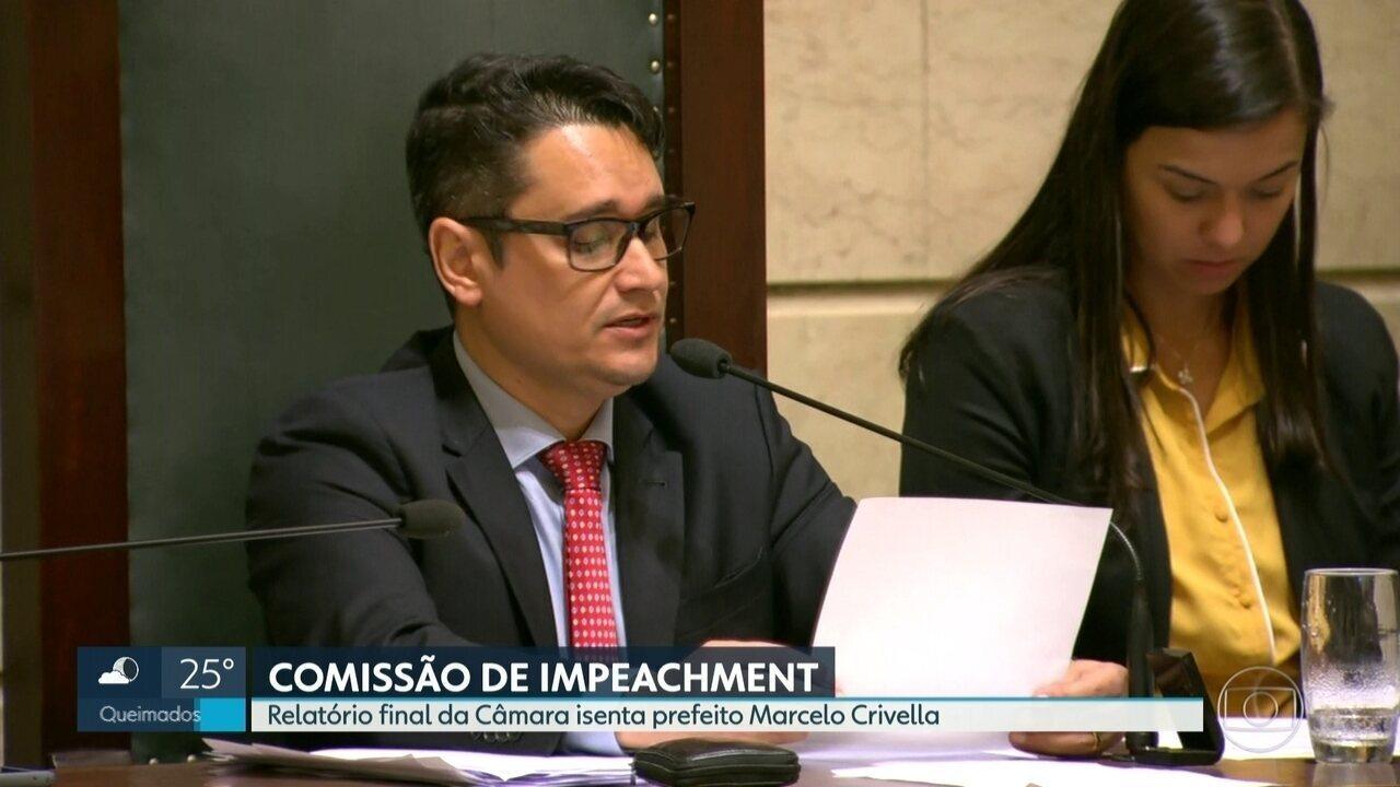 Comissão de impeachment isenta prefeito Marcelo Crivella
