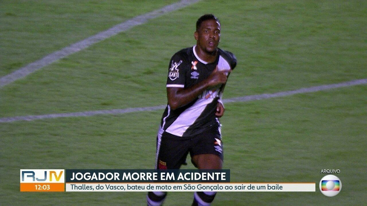Jogador do Vasco morre em acidente de trânsito, em São Gonçalo