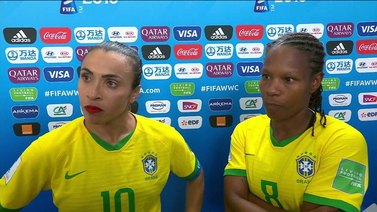 Marta e Formiga pedem apoio ao futebol feminino no Brasil