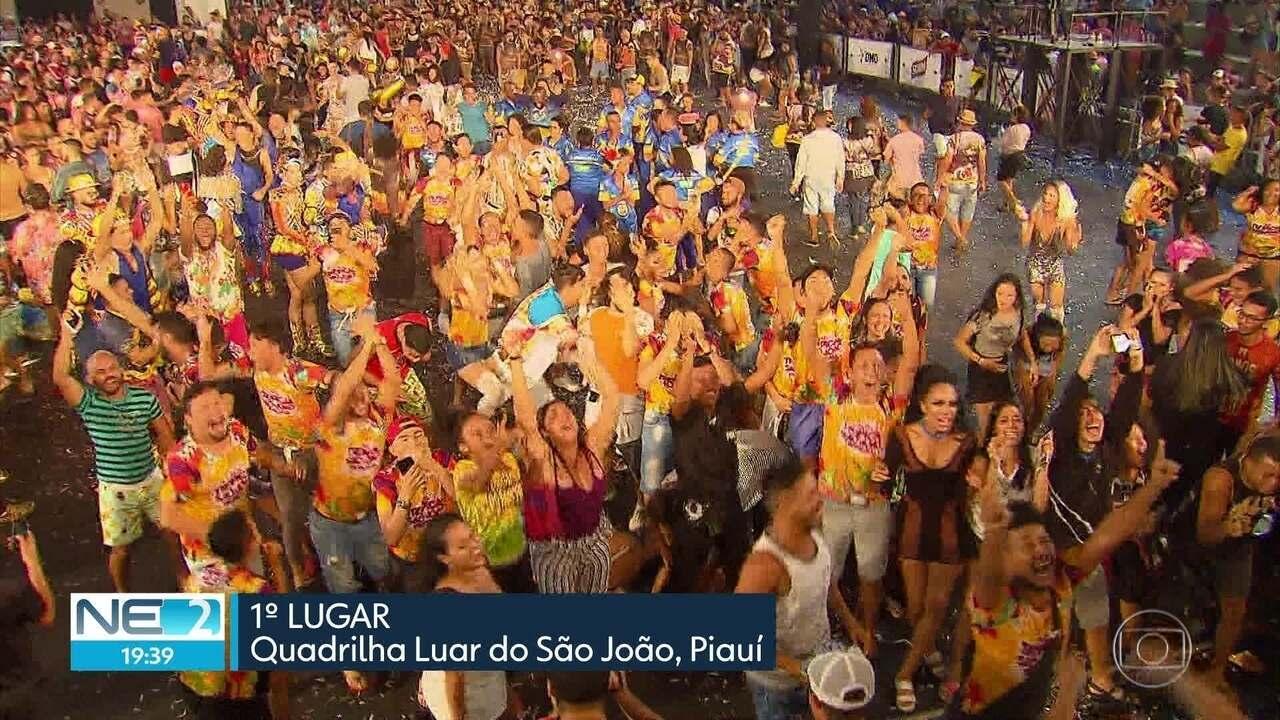 Grupo do Piauí ganha Festival de Quadrilhas Juninas da Globo