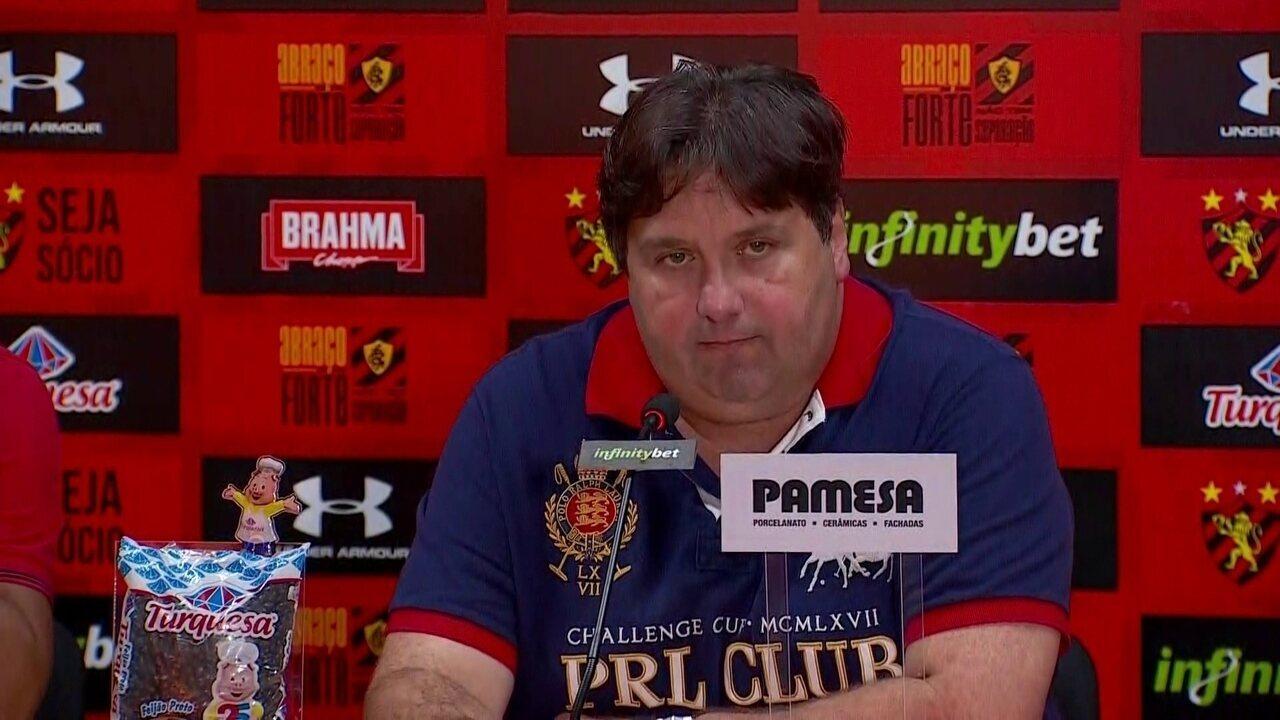 Direção de futebol do Sport fala sobre o Caso Magrão, nesta terça-feira