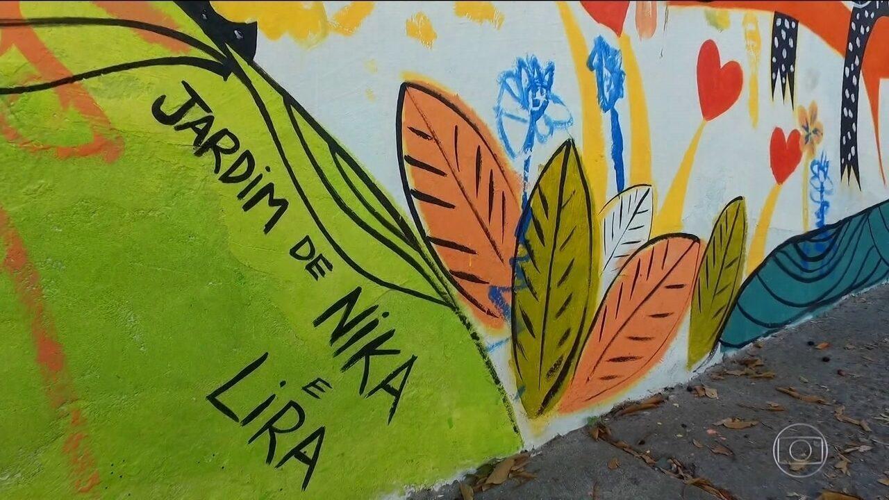 Pai dá um presente inusitado para as filhas: um muro novo
